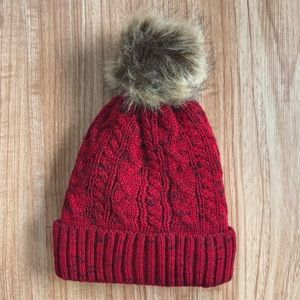 Accessories - Red Slouch Beanie
